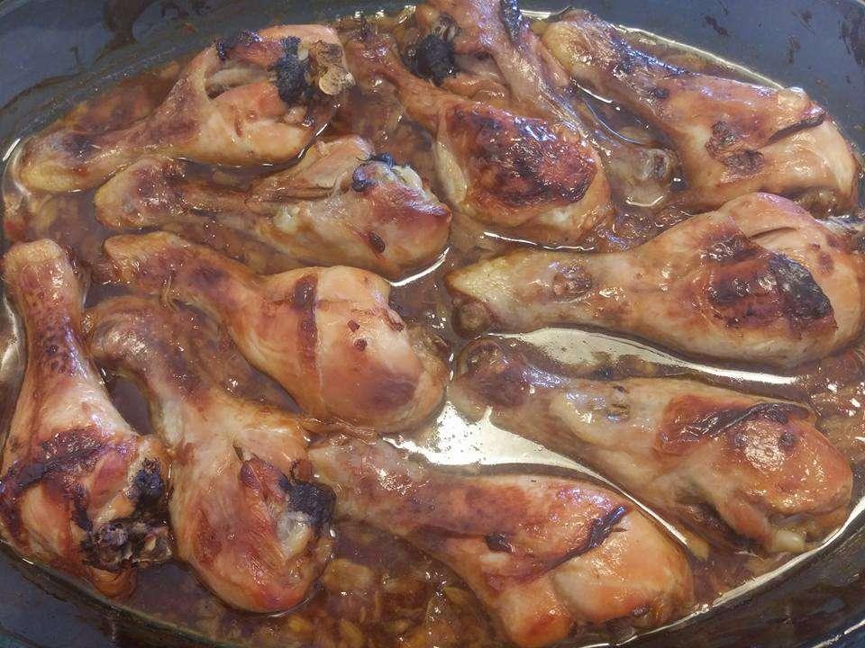 שוקי עוף במרינדה מנצחת של דבש שום וסויה בטעם משגע