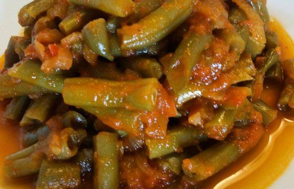 שעועית ירוקה ברוטב עגבניות טריות מתכון ביתי מבית אימא