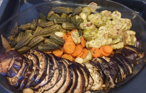 מתכון לאנטיפסטי שפע ירקות אפויים בתנור