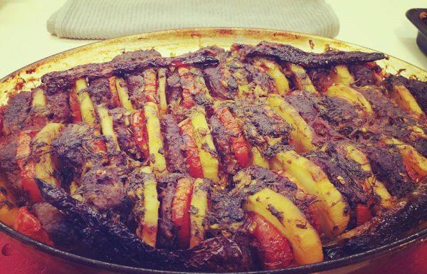 מתכון לקציצות בשר בתוספת ירקות בתנור