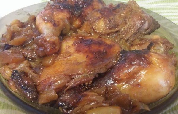 עוף צלוי בקוקי שחום פריך ועסיסי